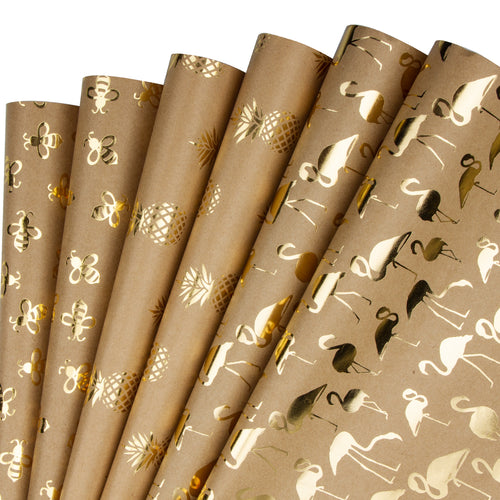 Wrapaholic Gold Foil Wrapping Paper Sheets