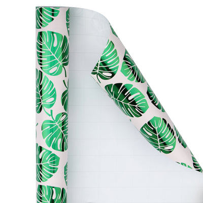 Wrapaholic-Green-Foil-Tropical-Palm-Leaves-Gift -Wrapping-Paper-Roll-2