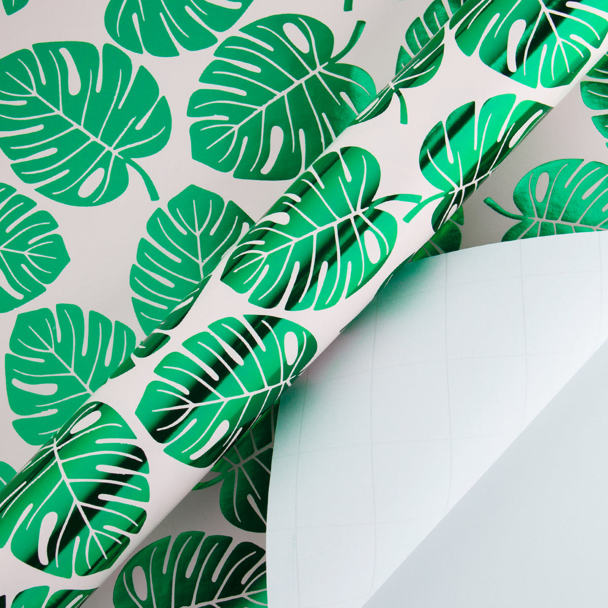Wrapaholic-Green-Foil-Tropical-Palm-Leaves-Gift -Wrapping-Paper-Roll-3