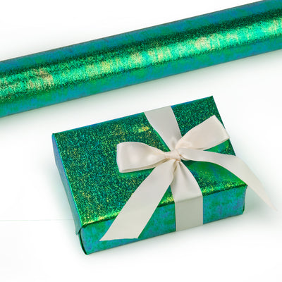 Wrapaholic-Green-Paper-With-Rainbow-Shiny-Gift-Wrapping-Paper -Roll-1