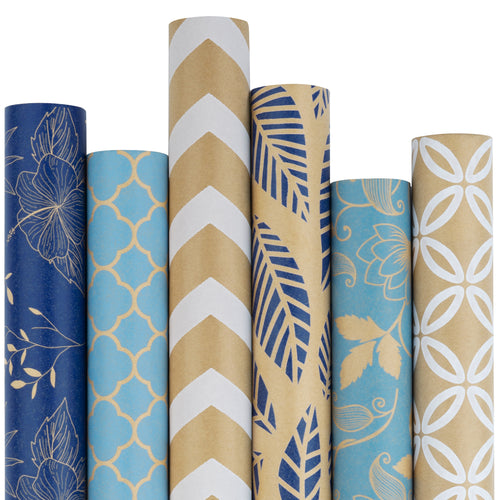 Wrapaholic-Kraft-Wrapping-Paper-Navy-Blue-1