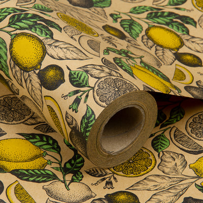 Wrapaholic-Lemon-Kraft-Gift-Wrapping-Paper-1
