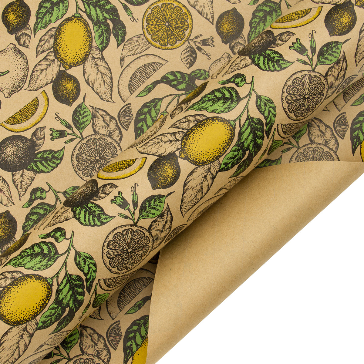 Wrapaholic-Lemon-Kraft-Gift-Wrapping-Paper-4