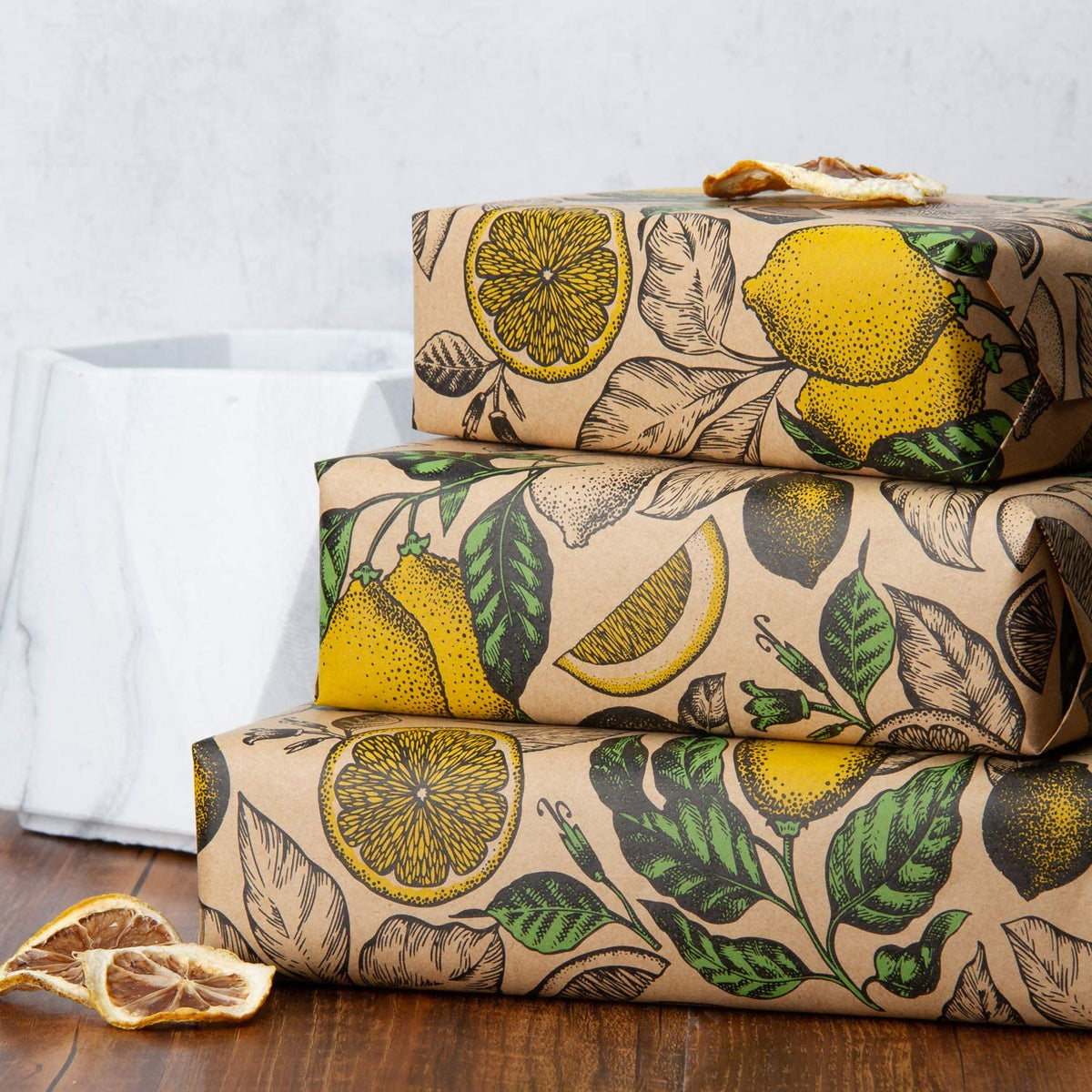 Wrapaholic-Lemon-Kraft-Gift-Wrapping-Paper-5
