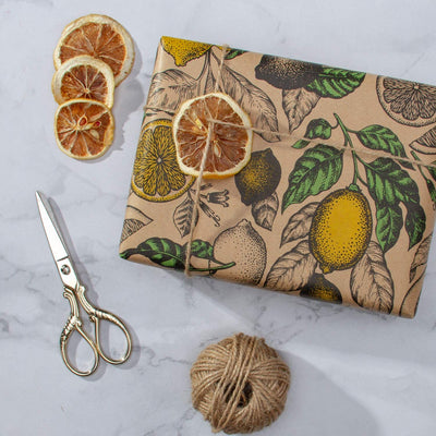 Wrapaholic-Lemon-Kraft-Gift-Wrapping-Paper-6