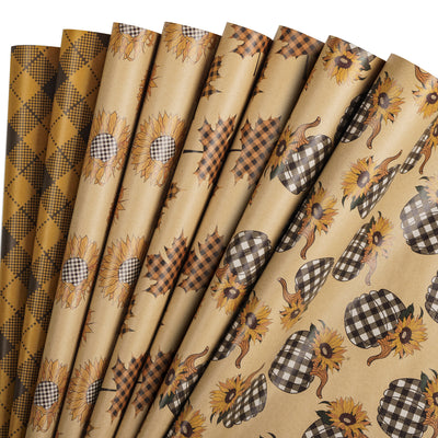Wrapaholic-Maple-Leaf-Fall-Season-Wrapping-Paper-Sheets-1