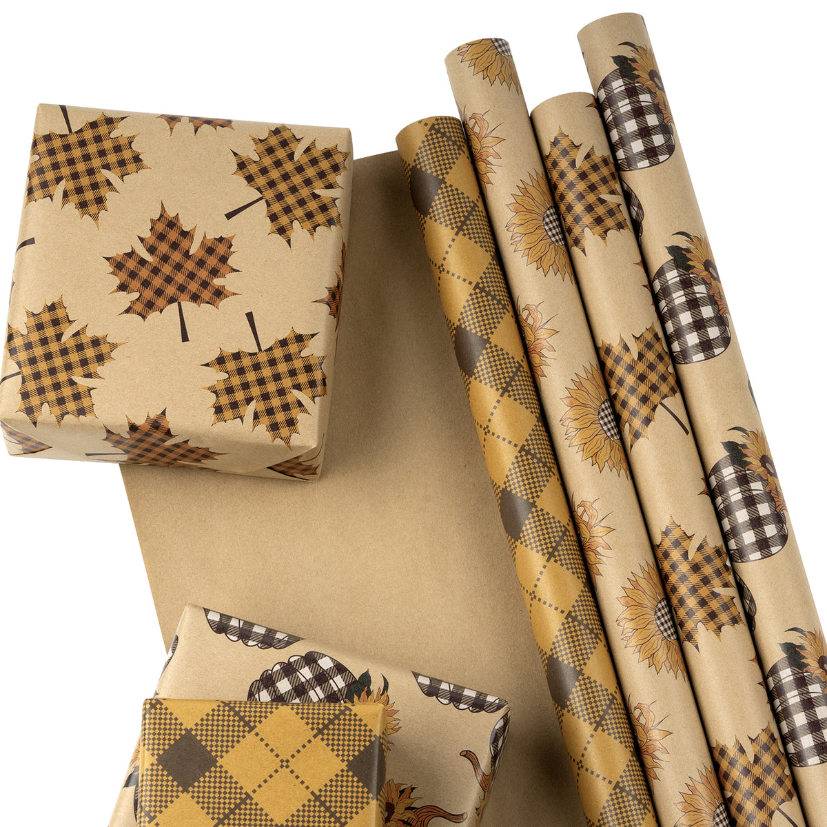 Wrapaholic-Maple-Leaf-Fall-Season-Wrapping-Paper-Sheets-2