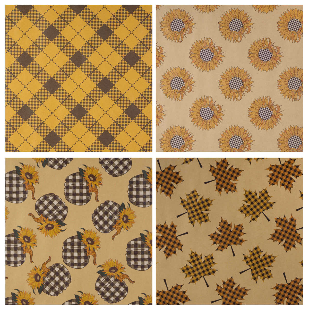 Wrapaholic-Maple-Leaf-Fall-Season-Wrapping-Paper-Sheets-3
