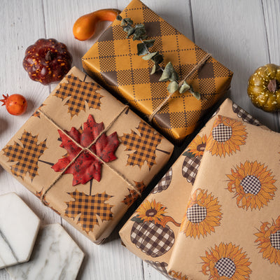 Wrapaholic-Maple-Leaf-Fall-Season-Wrapping-Paper-Sheets-5