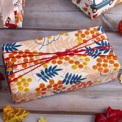 Wrapaholic- Maple-Leaf-and-Pumpkin Autumn-Design-Gift-Wrapping-Paper-Roll-4 Rolls-6