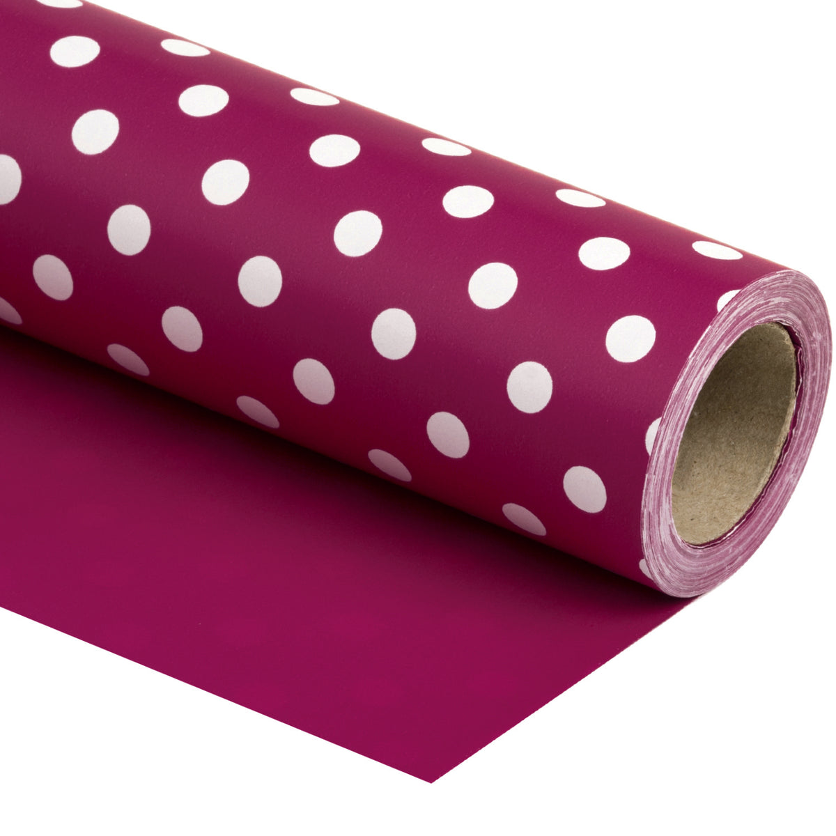 Wrapaholic- Medium-Violet -Red-and- Polka-Dot- Design-Reversible-Gift- Wrapping-Paper-1