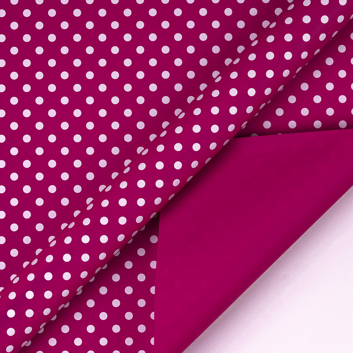 Wrapaholic- Medium-Violet -Red-and- Polka-Dot- Design-Reversible-Gift- Wrapping-Paper-3