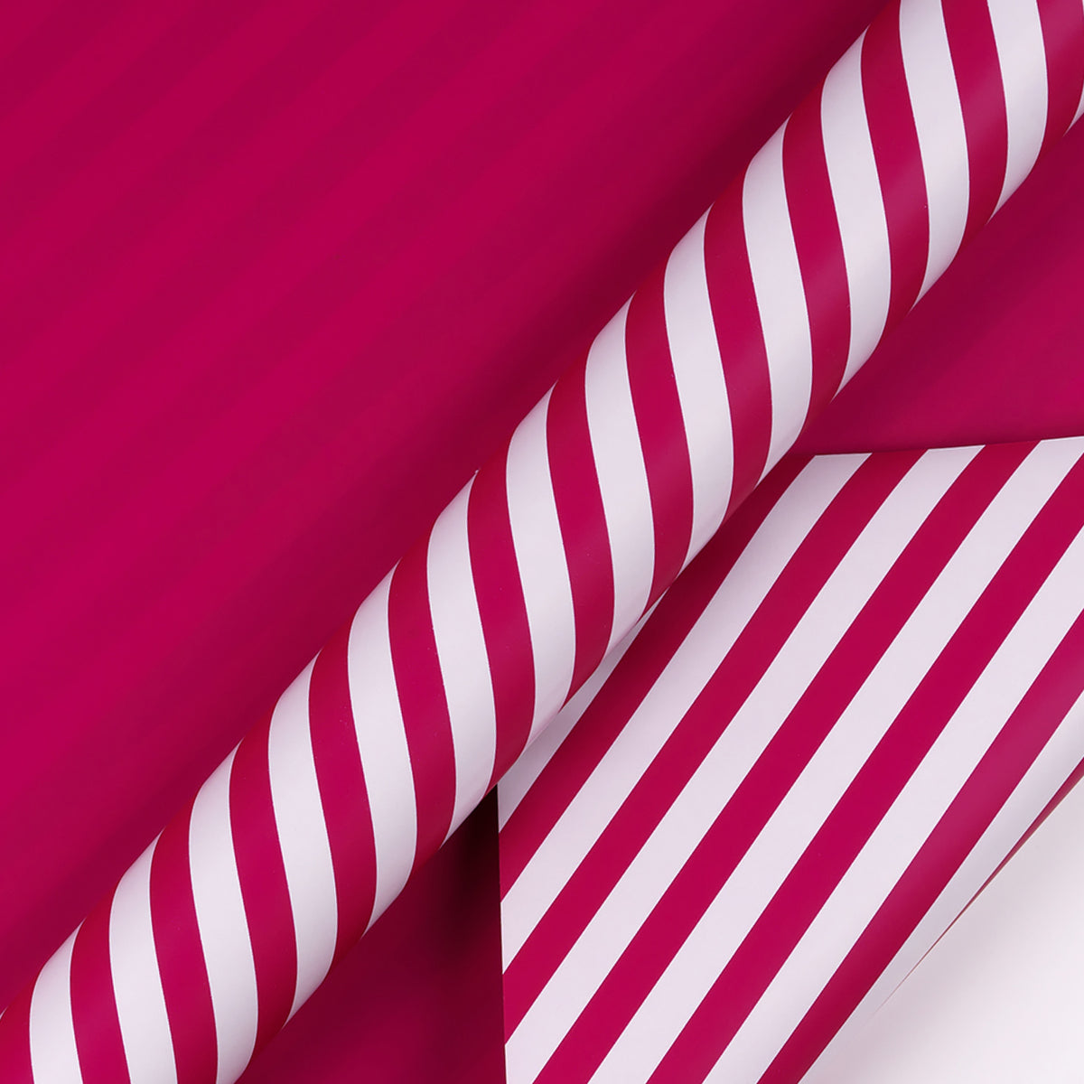 Wrapaholic-Medium-Violet Red-and-Stripes -Design-Reversible-Gift- Wrapping-Paper-2