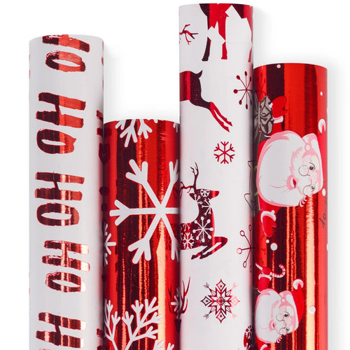 Wrapaholic-Merry-Christmas-Gift-Wrapping-Paper-Roll-Merry-Christmas-red-santa