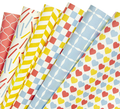 Wrapaholic-Multi-color-Geometry-Wrapping-Paper-Sheets-1