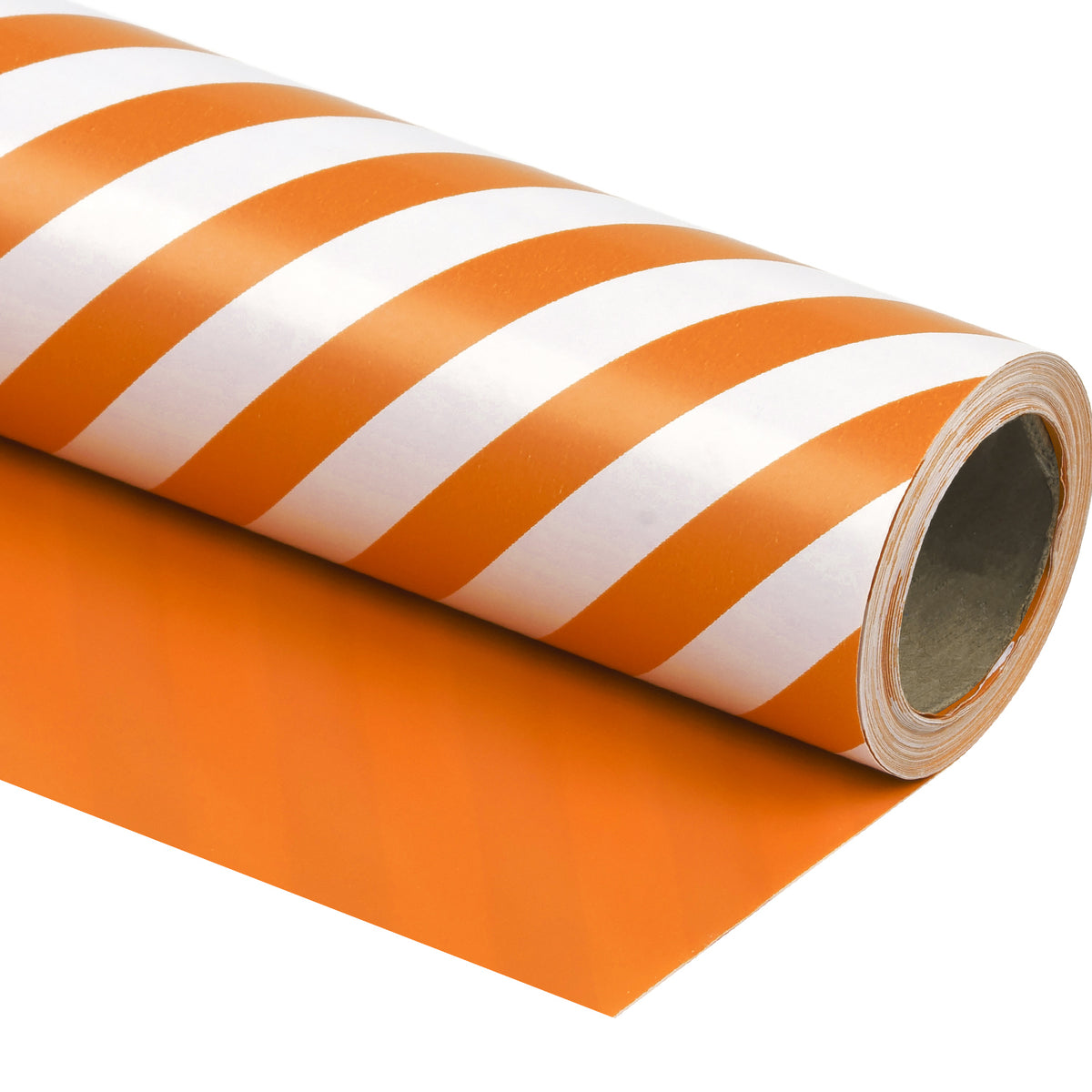 Wrapaholic- Orange-and- Stripe-Design-Reversible-Gift- Wrapping-Paper-1