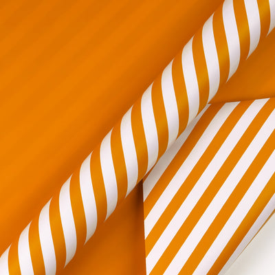 Wrapaholic- Orange-and- Stripe-Design-Reversible-Gift- Wrapping-Paper-2