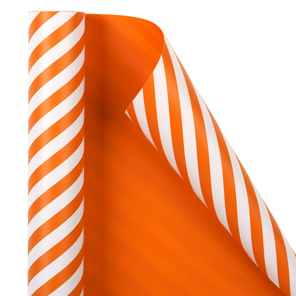 Wrapaholic- Orange-and- Stripe-Design-Reversible-Gift-Wrapping-Paper-3