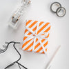 Wrapaholic- Orange-and- Stripe-Design-Reversible-Gift-Wrapping-Paper-4