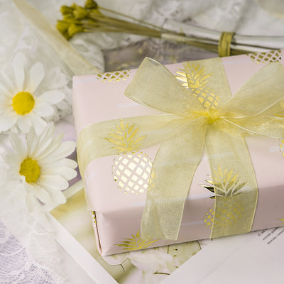 Wrapaholic-Pastel-Pink- Color-with-Foil-Pineapple- Design-Gift-Wrapping-Paper-Roll-5