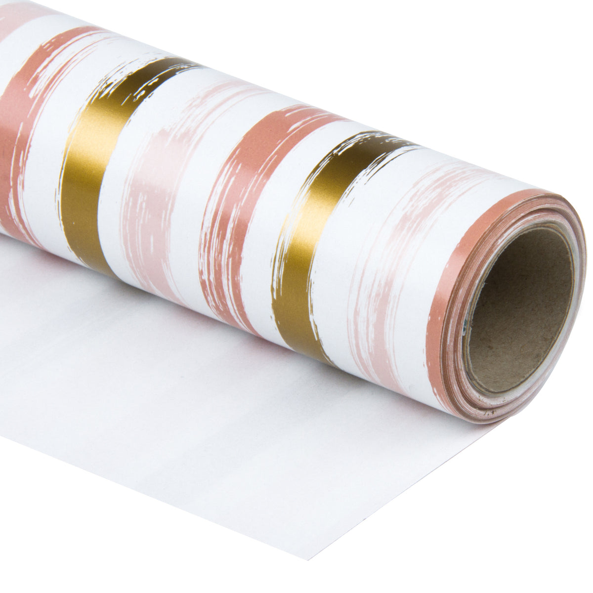 Wrapaholic-Pink-and-Gold Lines-Print-Gift-Wrapping-Paper-Roll-1