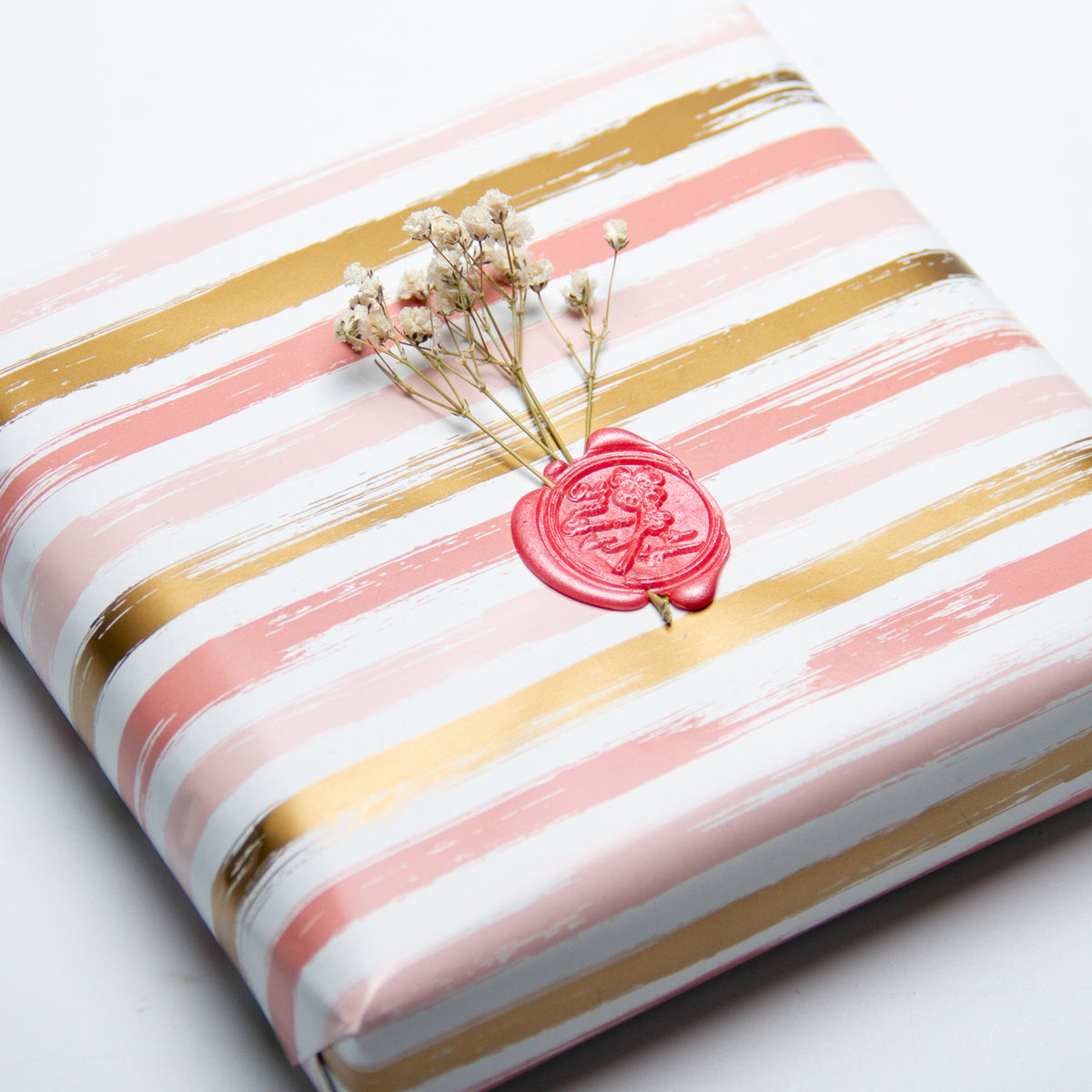 Wrapaholic-Pink-and-Gold Lines-Print-Gift-Wrapping-Paper-Roll-5