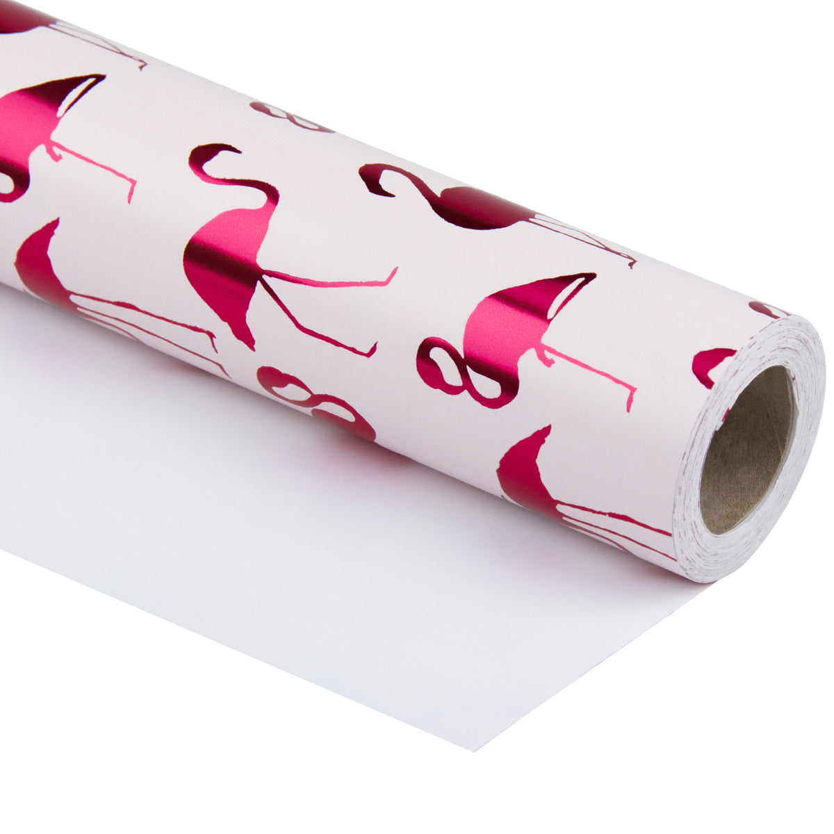 Wrapaholic-Pink-with- Fuschia-Foil-Flamingo-Gift- Wrapping- Paper-Roll-1