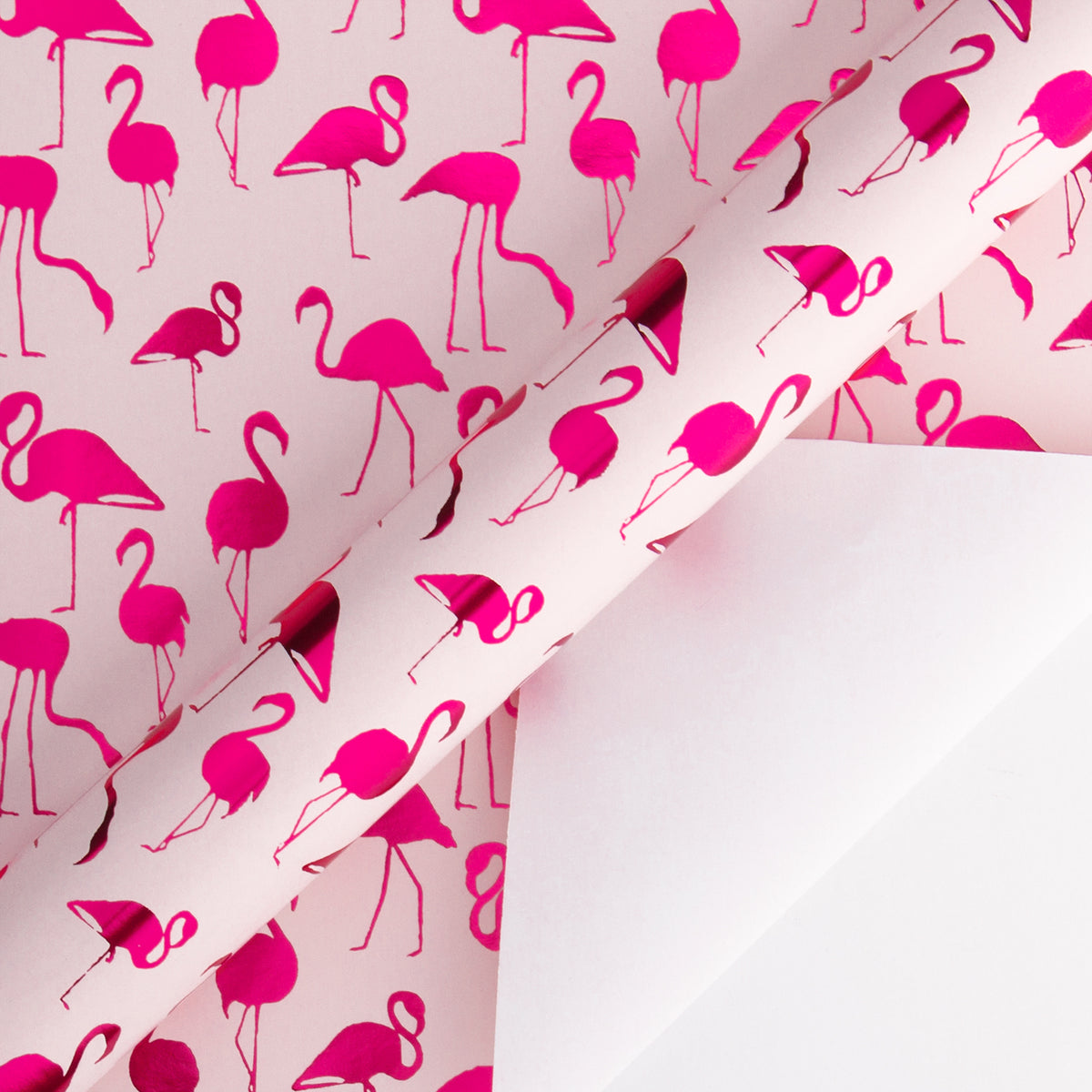 Wrapaholic-Pink-with- Fuschia-Foil-Flamingo-Gift- Wrapping- Paper-Roll-3