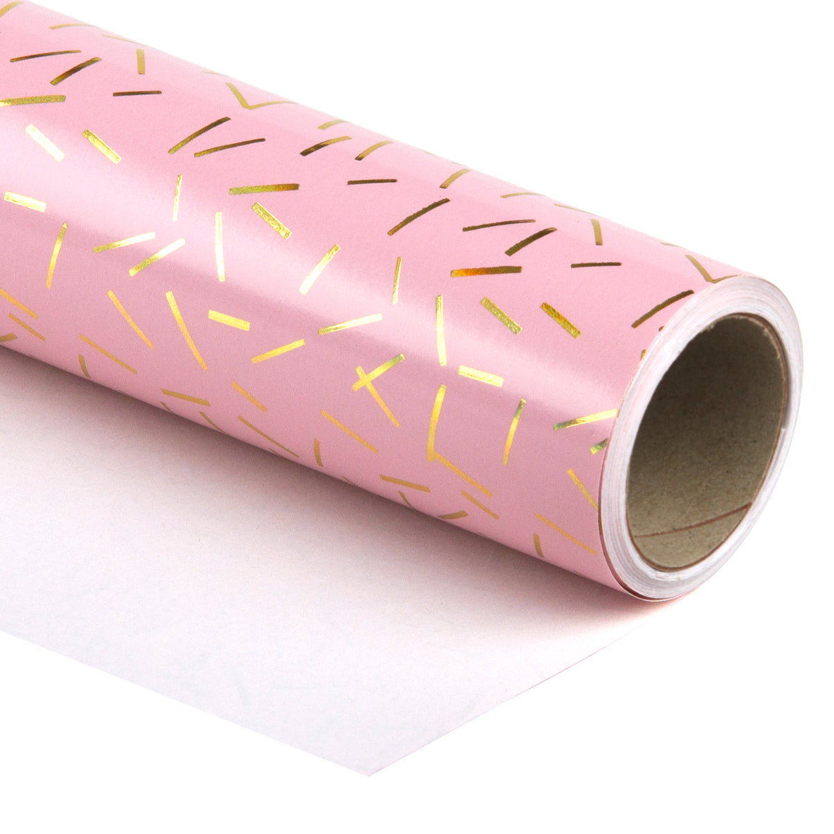 Wrapaholic-Pink-with-Gold Foil-Design- Gift-Wrapping-Paper-Roll-1
