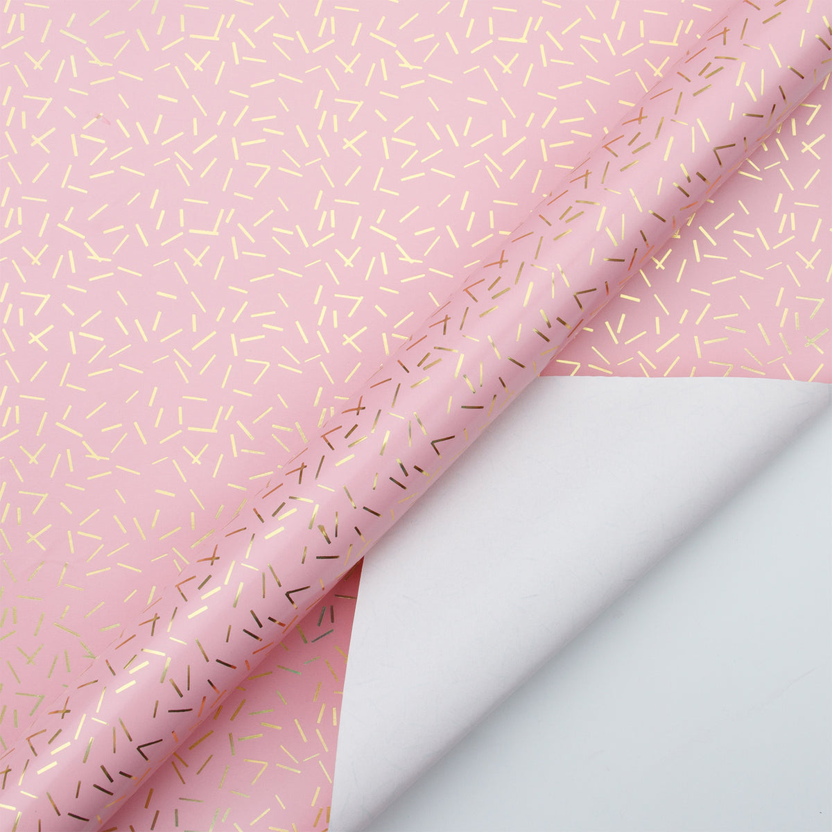Wrapaholic-Pink-with-Gold Foil-Design- Gift-Wrapping-Paper-Roll-2