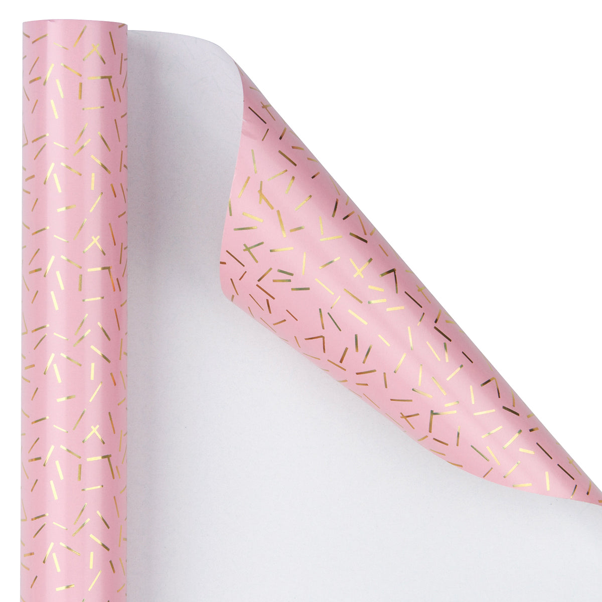 Wrapaholic-Pink-with-Gold Foil-Design- Gift-Wrapping-Paper-Roll-3