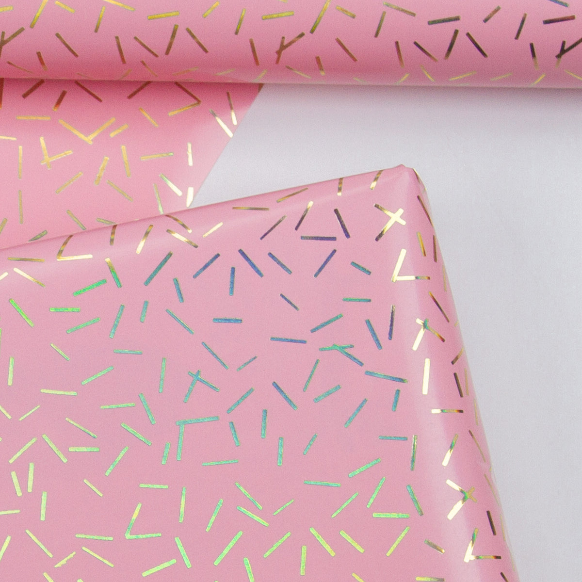 Wrapaholic-Pink-with-Gold Foil-Design- Gift-Wrapping-Paper-Roll-4