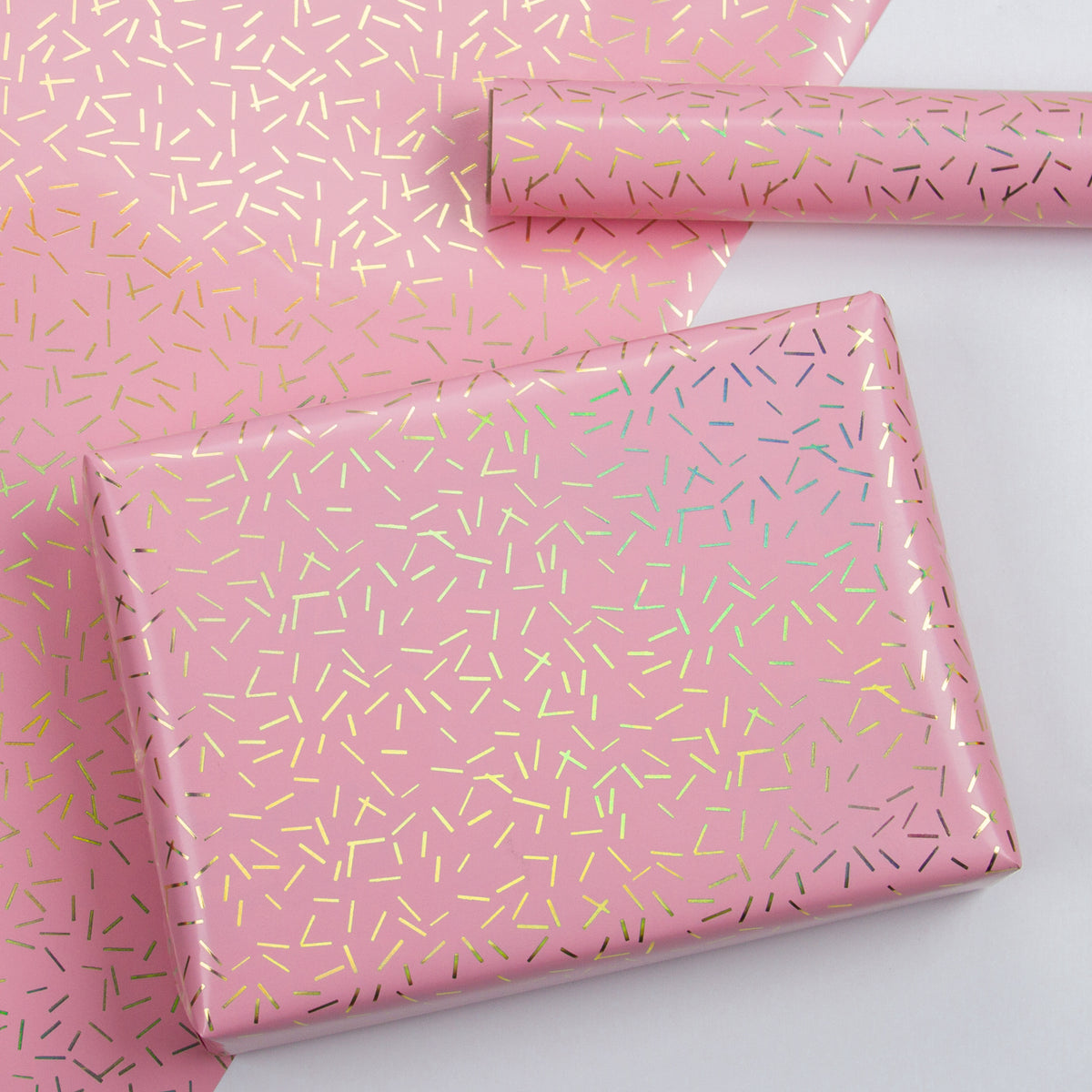 Wrapaholic-Pink-with-Gold Foil-Design- Gift-Wrapping-Paper-Roll-5