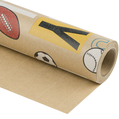 Wrapaholic-Play-Ball-Kraft-Wrapping-Paper-1