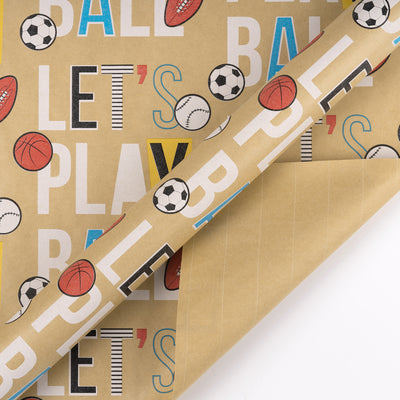 Wrapaholic-Play-Ball-Kraft-Wrapping-Paper-2