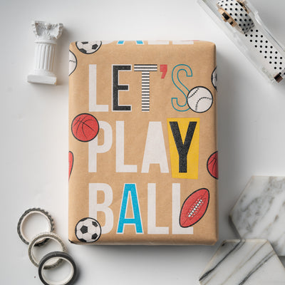 Wrapaholic-Play-Ball-Kraft-Wrapping-Paper-5