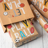Wrapaholic-Play-Ball-Kraft-Wrapping-Paper-6