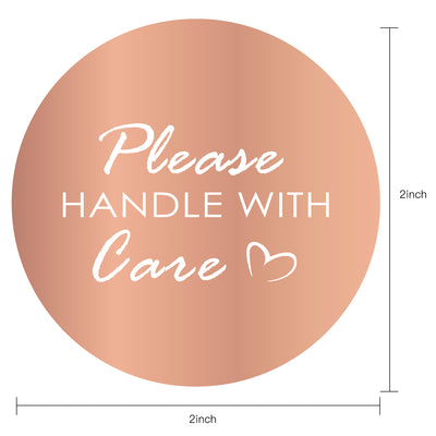 Wrapaholic Please Handle with Care Stickers  Business Thank You Stickers, Shipping Stickers - 2 x 2 Inch 500 Total Labels