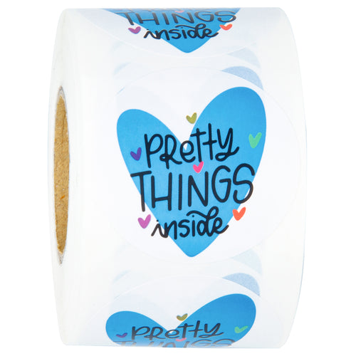 Wrapaholic Pretty Things Inside Stickers- 2 x 2 Inch 500 Total Labels