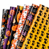 Wrapaholic-Pumpkin-and-Black-Cat-Design-Gift Wrapping-Paper-Sheet-1