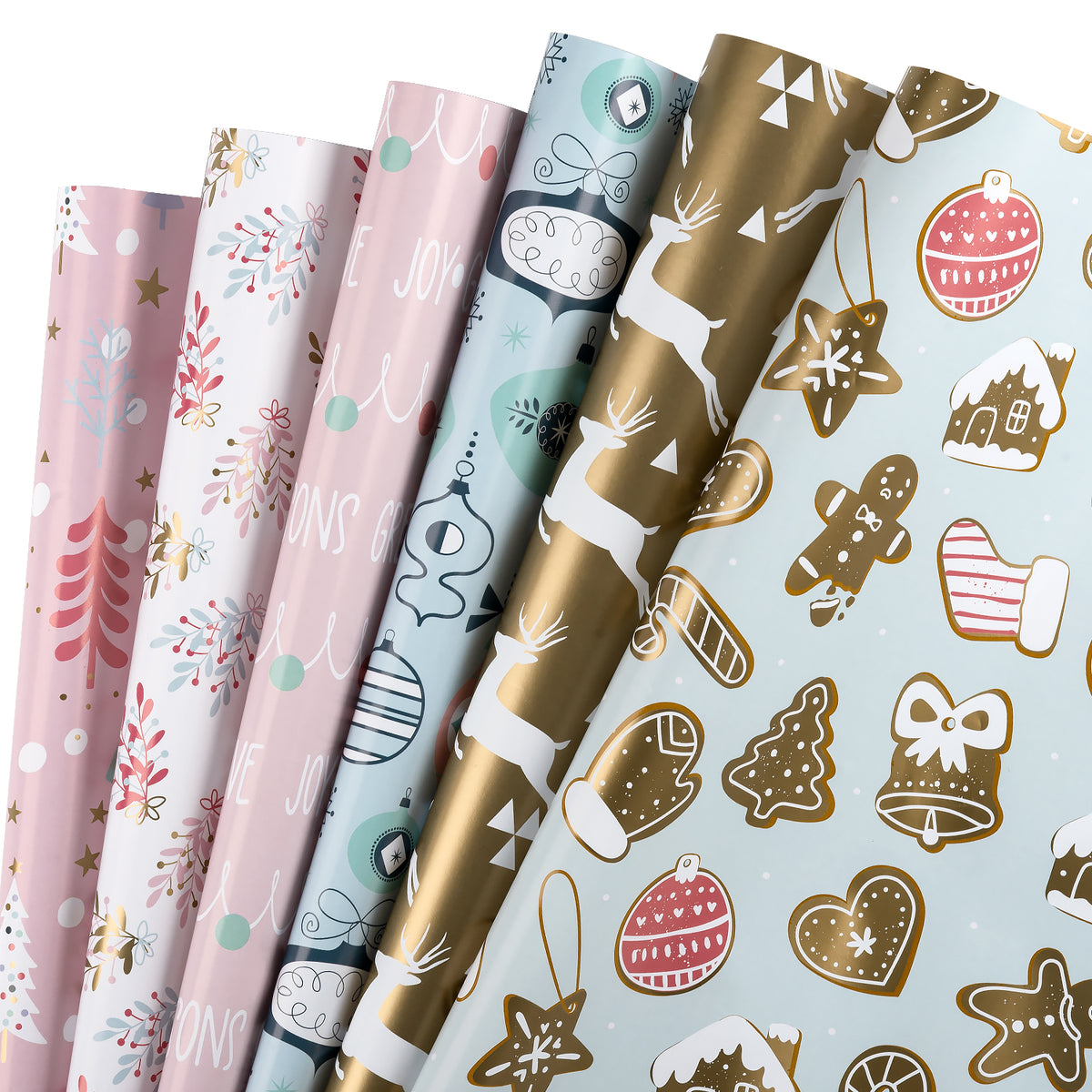 Wrapaholic-Reindeer-and-Christmas-Tree-Design- Gift-Wrapping-Paper-Sheet-1