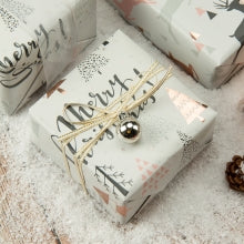 Wrapaholic-Rose-Gold-and- Grey-Holiday-Design-with-Metallic-Foil-Shine-Christmas-Gift-Wrapping-Paper-Roll-4 Rolls-2