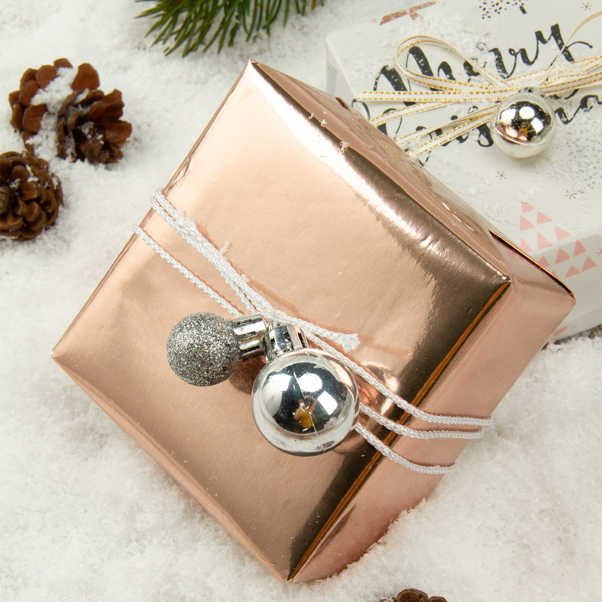 Wrapaholic-Rose-Gold-and- Grey-Holiday-Design-with-Metallic-Foil-Shine-Christmas-Gift-Wrapping-Paper-Roll-4 Rolls-3
