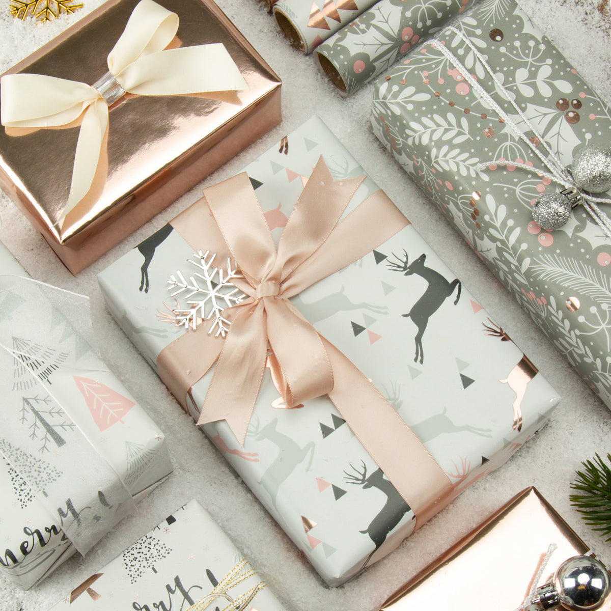 Wrapaholic-Rose-Gold-and- Grey-Holiday-Design-with-Metallic-Foil-Shine-Christmas-Gift-Wrapping-Paper-Roll-4 Rolls-4