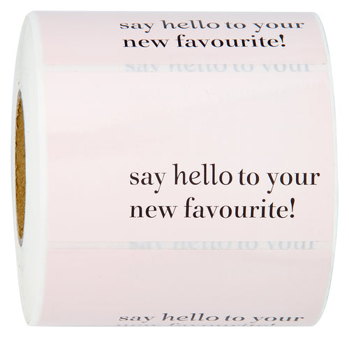 Wrapaholic Say Hello to Your New Favourite Stickers - Pink Business Thank You Stickers, Shipping Stickers - 2 x 3.2 Inch 350 Total Labels