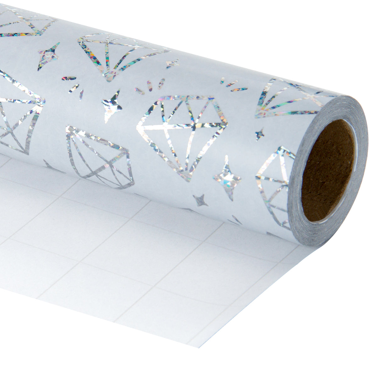 Wrapaholic-Silver-Diamond -Design-with -Matallic-Foil -Shine-Gift-Wrapping -Paper-Roll-1