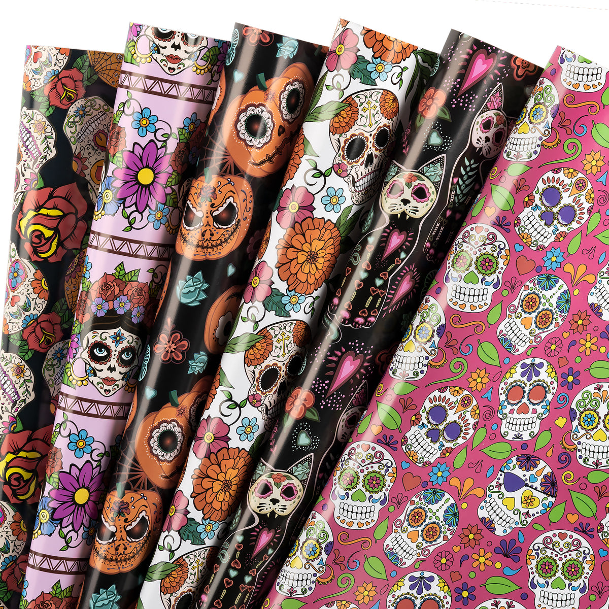 Wrapaholic-Skull-Design-Gift-Wrapping-Paper-Sheet-1
