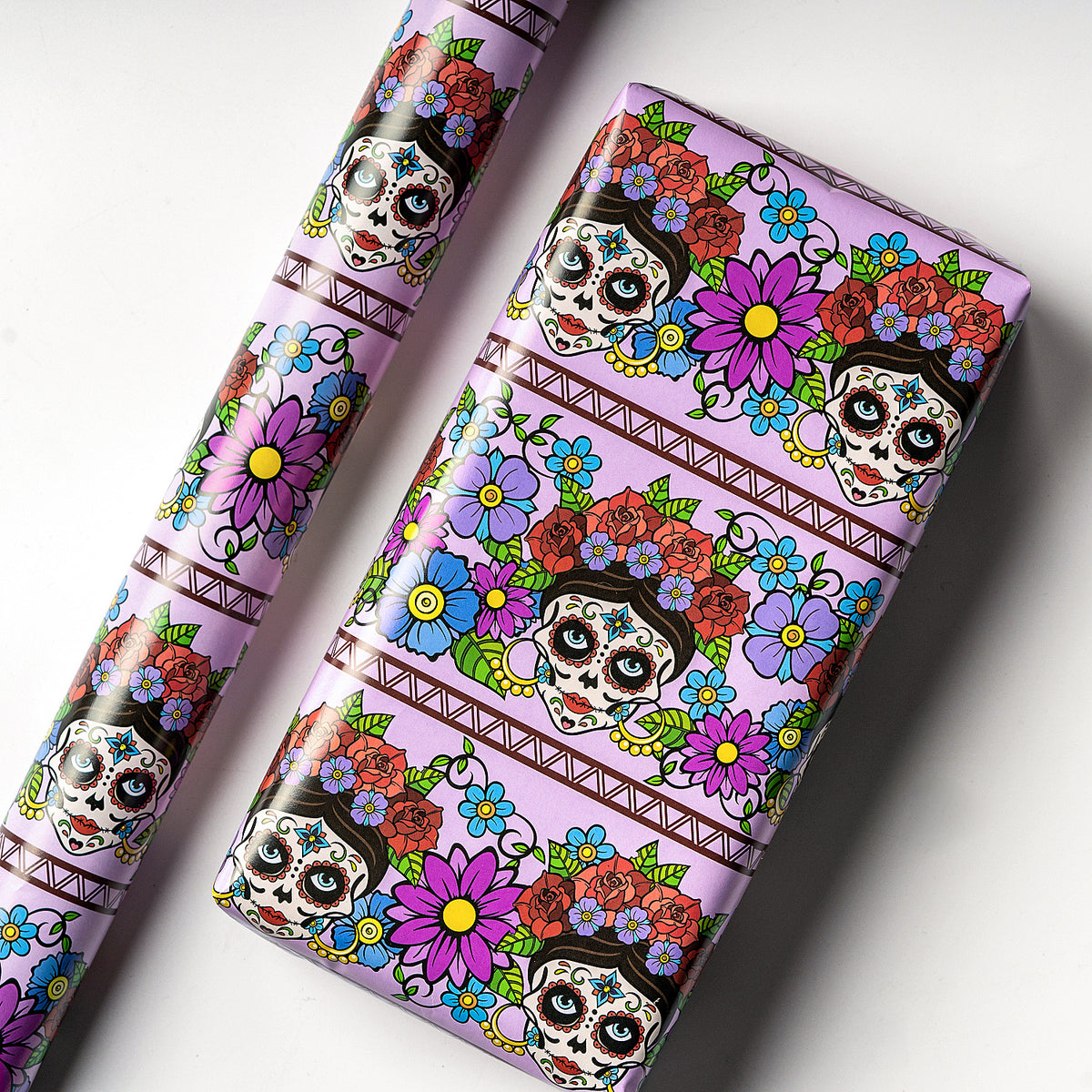 Wrapaholic-Skull-Design-Gift-Wrapping-Paper-Sheet-2