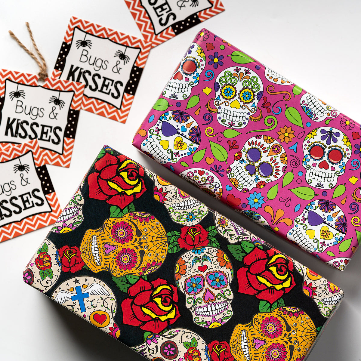 Wrapaholic-Skull-Design-Gift-Wrapping-Paper-Sheet-3