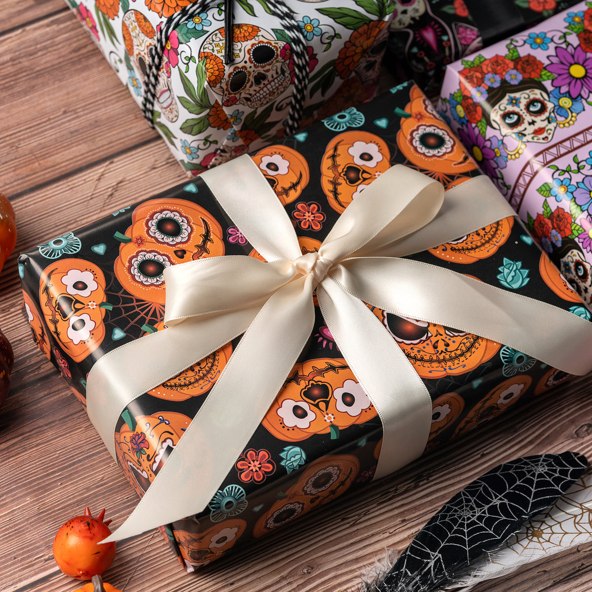 Wrapaholic-Skull-Design-Gift-Wrapping-Paper-Sheet-4